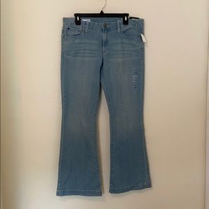 NWT gap 1969 long and lean mid rise flare jeans